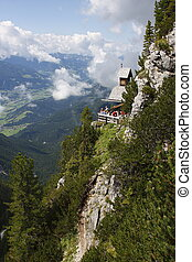 Austria rocky hill - Austria little house on the rocky hill...