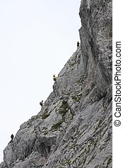 Austria tourists climbing - Austria the tourists climbing...