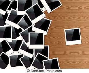 Vintage Polaroid photo frame background - Old Polaroid...