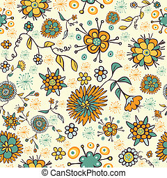 Abstract nice flower seamless pattern - Color abstract...