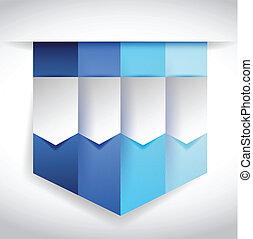 set of blue banners illustration design