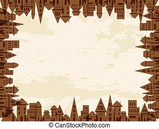 Tree city concept frame