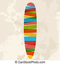 Vintage multicolor surfing - Diversity colors transparent...