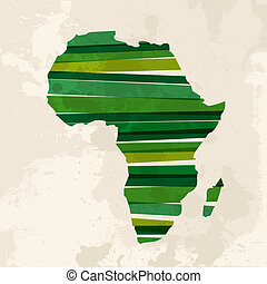 Vintage multicolor Africa - Diversity colors transparent...