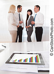 Business Graph Chart On A Table
