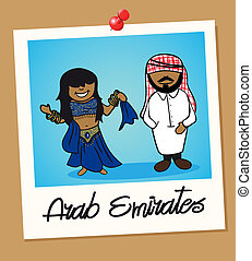 United Arab Emirates travel polaroid people - Arabic man and...