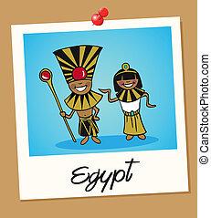 Egypt travel polaroid people - Egyptian man and woman...