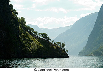 Norway Fjord Scenic - Fjord Scenic from the pass between...