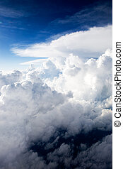 Sky Drama - A dramatic cloudscape background with cumulus...