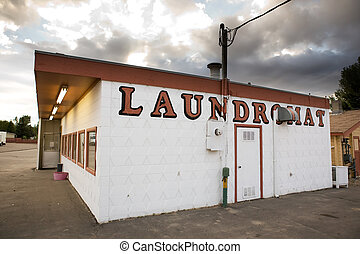 Vintage Laundromat - An old laundromat in a small town