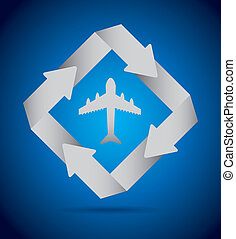 travel infographics over blue background vector illustration...