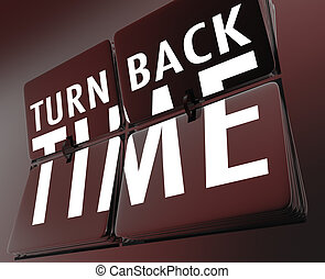 Turn Back Time Retro Clock Flipping Tiles Reverse to Past -...