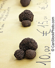 Black truffles - Some black truffles in exposition for...