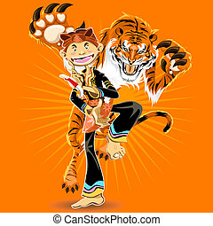 Pencak Silat Martial Arts - Man Performing Tiger Style...