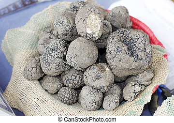 truffles basket - Basket wit a lot of black truffles
