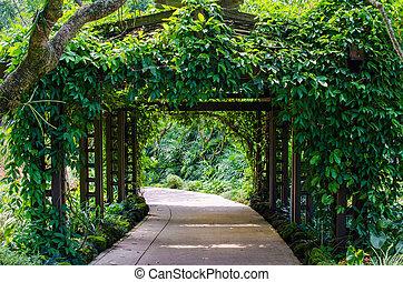 Walkway Path through the Garden - Walkway Path through a...