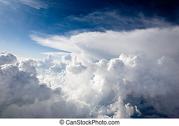 Dramatic Clouds - A view of cumulus clouds from above