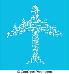 plane design over blue background vector illustration