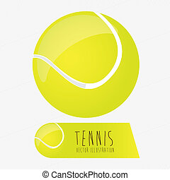 tennis ball over white background vector illustration