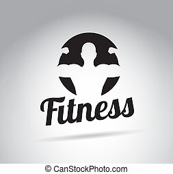 fitness design over gray background vector illustration