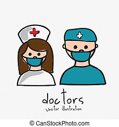 doctors design over white background vector illustration