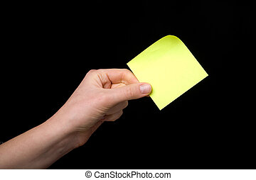 Sticky Note in Hand