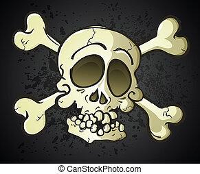 Skull and Crossbones Jolly Roger Ca - A skull and crossbones...