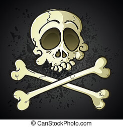 Skull and Crossbones Jolly Roger Ca - A classic jolly roger...