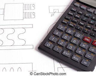 Calculate - An image showing a calculator for working out...