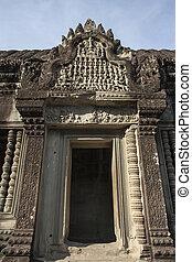 Angkor, Wat, wnętrze, szczegół, Kambodża