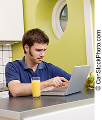 Unwanted Information - A young male looks at some disturbing...