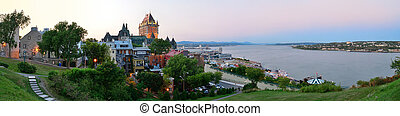 Quebec City skyline panorama with Chateau Frontenac at...