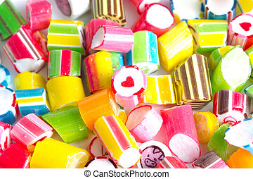 Close up colorful candies.