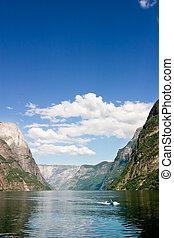 Sognefjord Norway - Sognefjord near Gudvangen in the western...