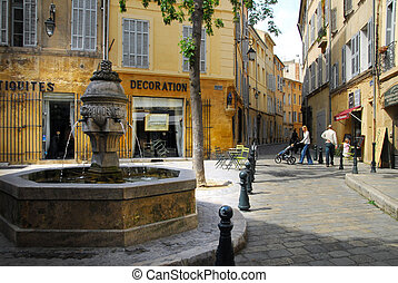 Aix en Provence - AIX EN PROVENCE, FRA - MAY 06:Visitors at...