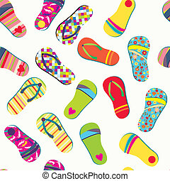 Summer flip flops seamless pattern funny design