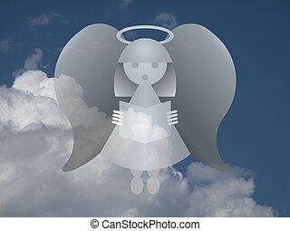 Heavenly Angel - Representation of an angel against a cloudy...