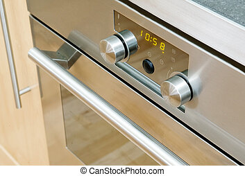 Modern Oven Detail - A modern stainless steel oven detail...