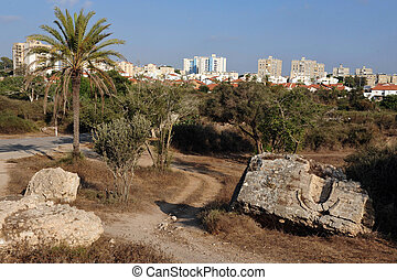 Israel - Ashkelon - The skyline of Ashkelon, Israel