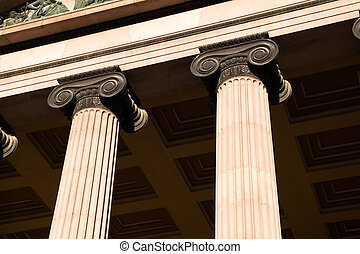 Greek Ionic Column - A detail of an old building built in...