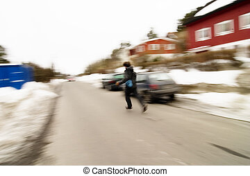 Running Motion Blur - A motion blur abstract of a person...