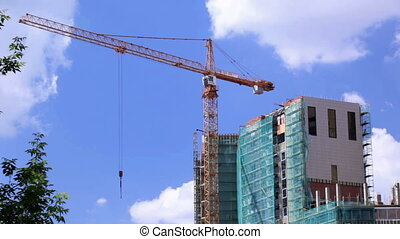 Crane and construction site 1
