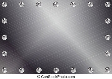 Metal Background - Brushed Metal Background with Screws