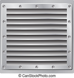 Metal Background with Vent