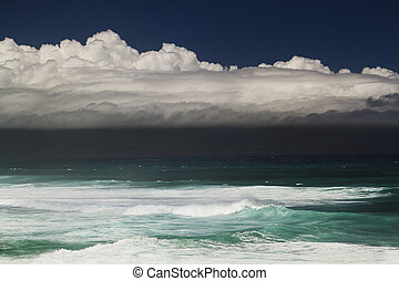 Ocean storm - Storm cloud over the Pacific ocean in Maui