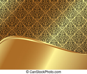 Gold frame with pattern 7