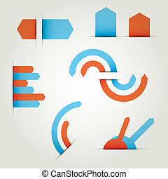 set of icons vector arrows