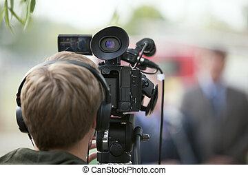 vídeo, cámara