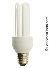 Energy saver lamp - White fluorescent energy saver lamp over...
