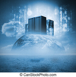 Servers on earth with matrix